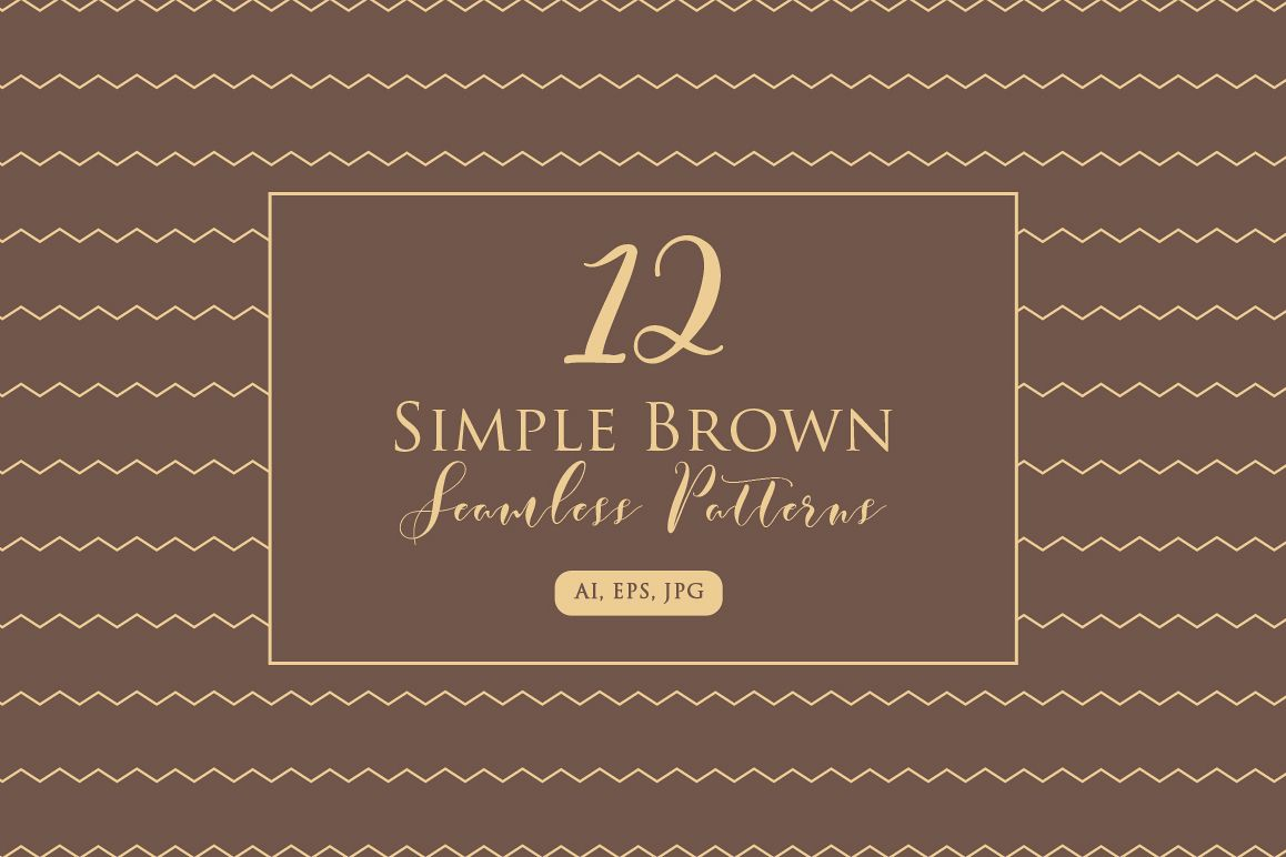 Simple Brown Seamless Pattern example image 1