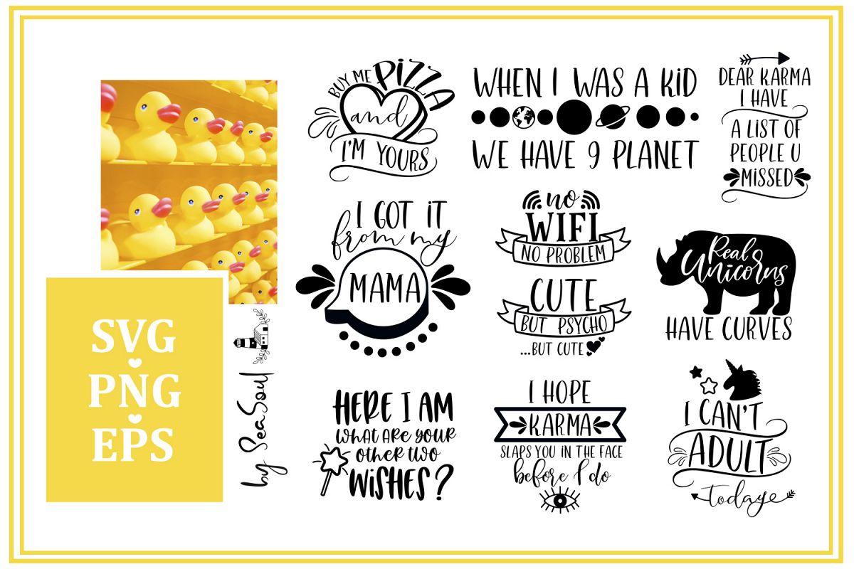 Funny Bundle SVG. Funny designs SVG, EPS, PNG example image 1