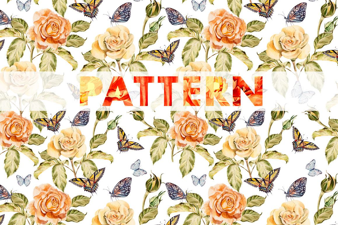 8 bright watercolor patterns example image 1