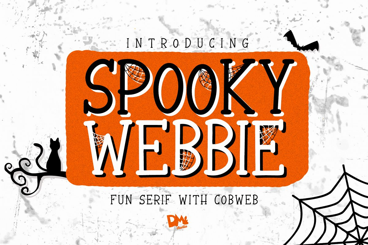 Spooky Webbie - Fun Serif With Web example image 1