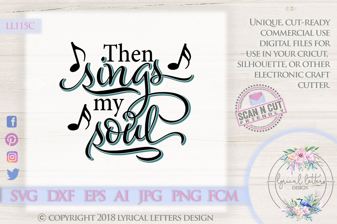 Then Sings My Soul Religious Hymn SVG DXF LL115C example image 1