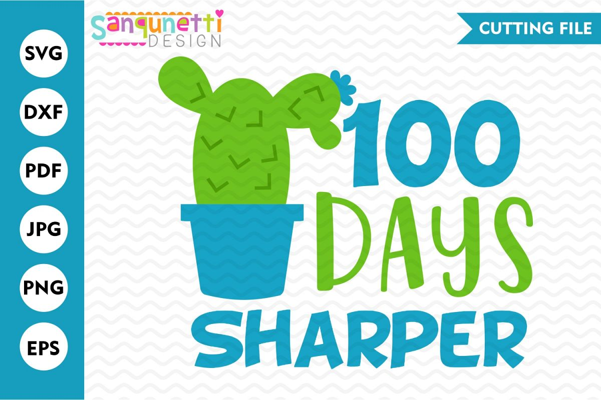 100 Days sharper svg, school cutting file example image 1
