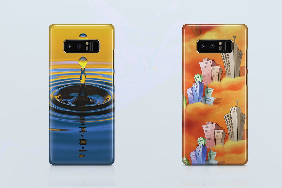 new styles 82256 c9478 Samsung Galaxy Note 8 3d Case Mockup Back View