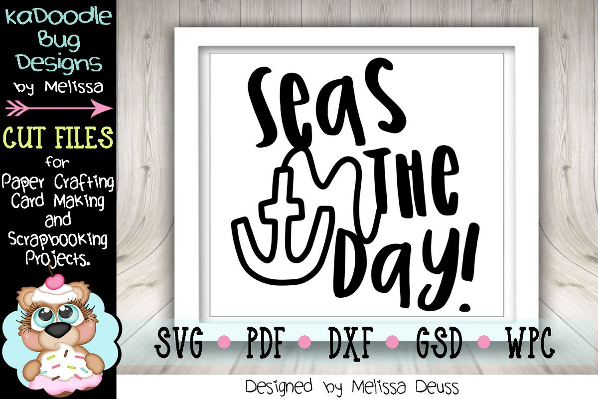 Seas The Day Cut File - SVG PDF DXF example image 1