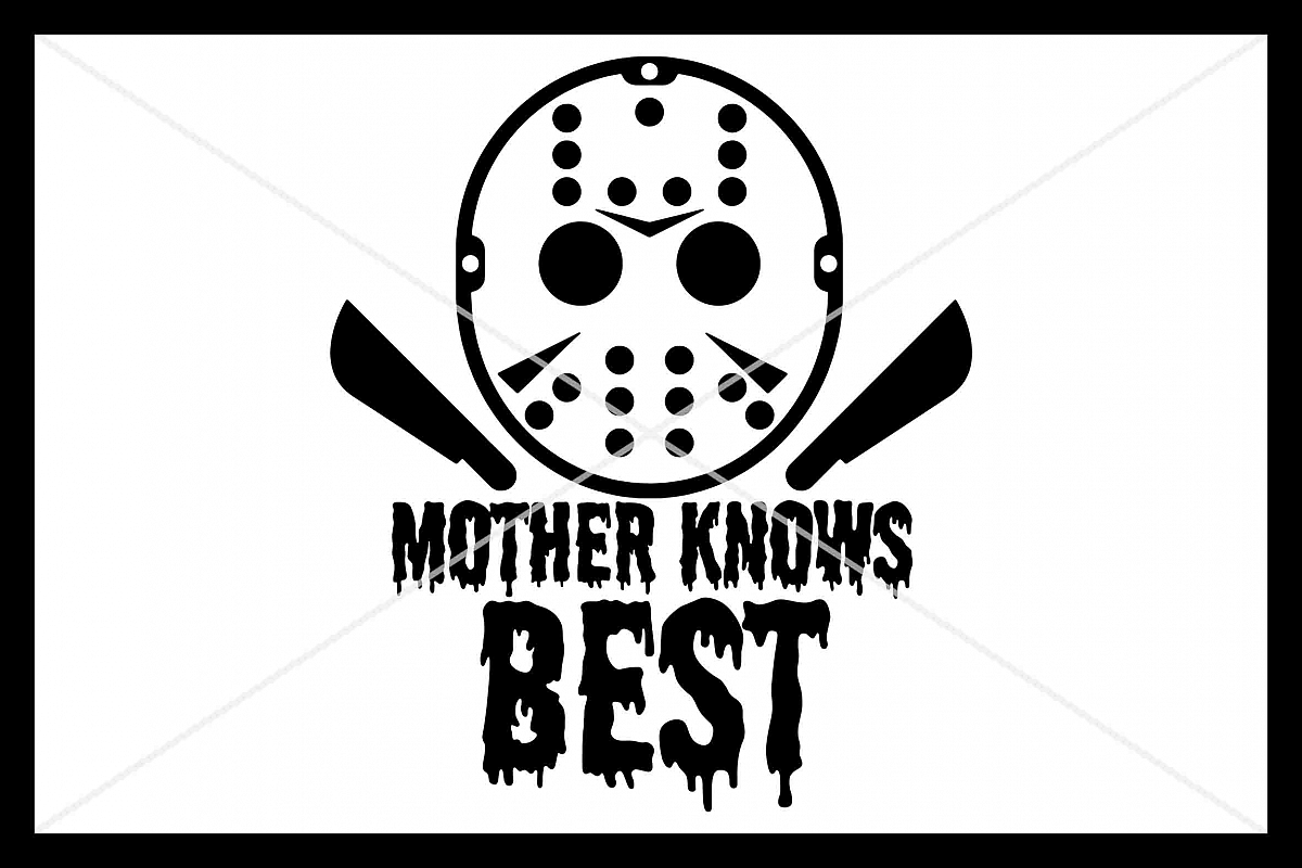 Halloween, SVG, Mask, Mother Knows Best, Silhouette Cameo example image 1