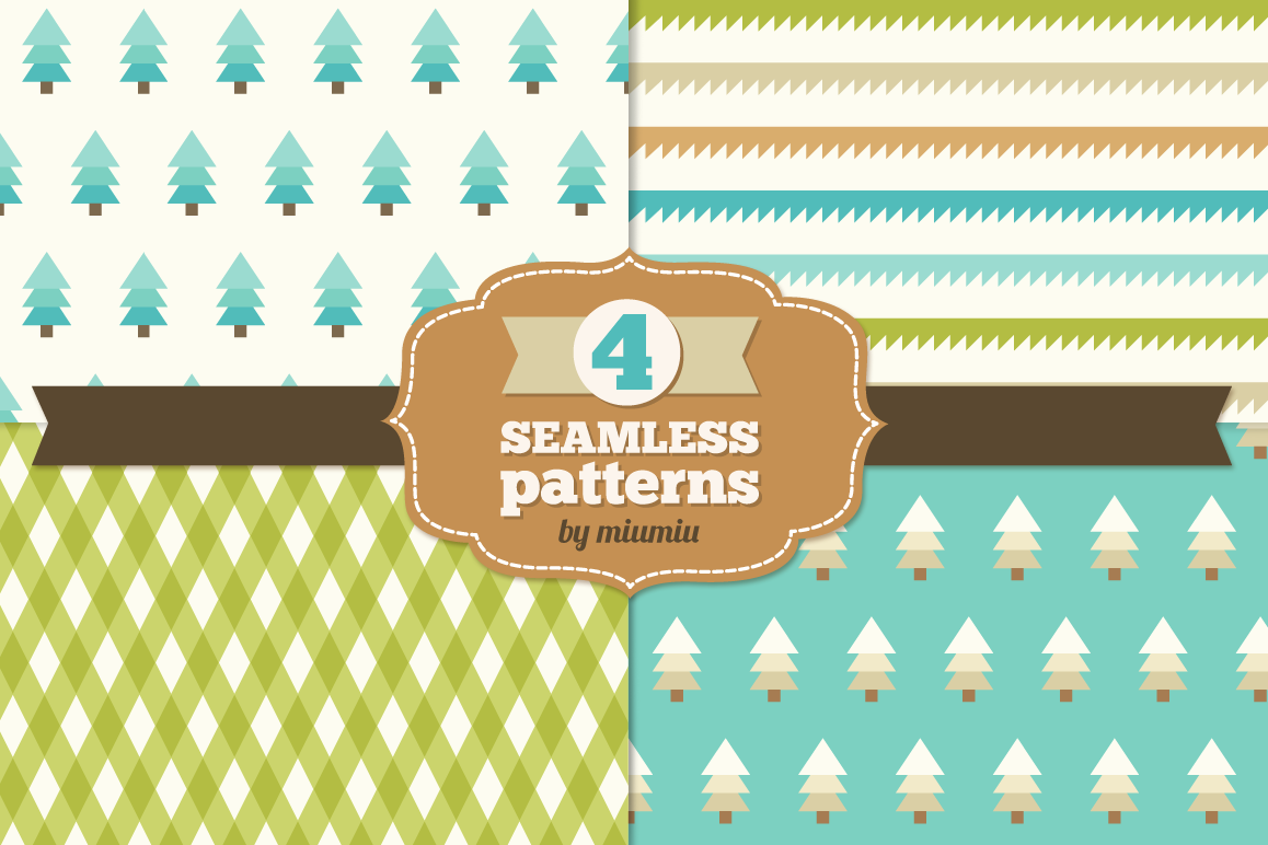 Christmas Seamless Patterns example image 1
