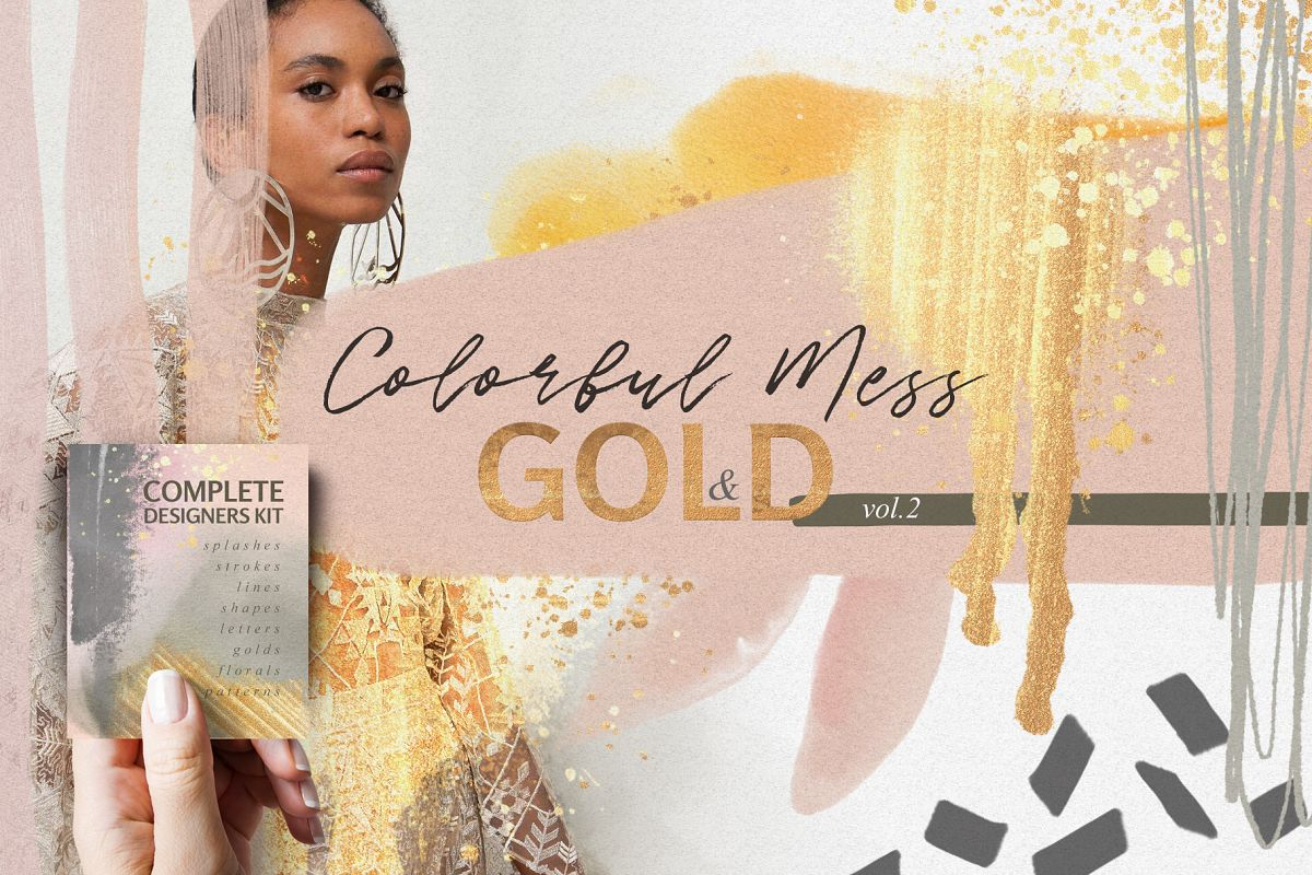 Colorful Mess & Gold Vol.2 example image 1