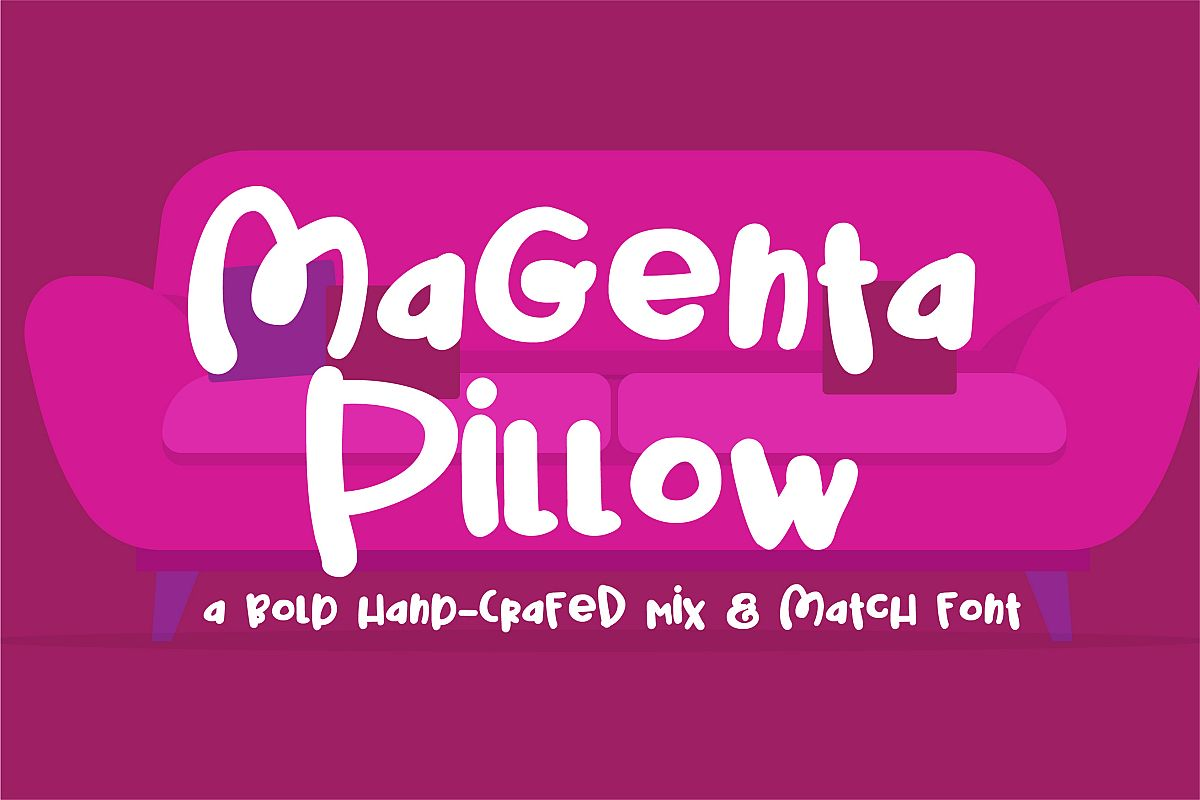 PN Magenta Pillow example image 1