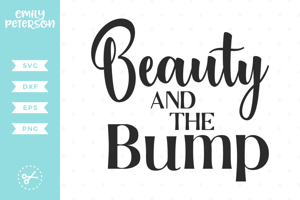 Beauty and the Bump SVG DXF EPS PNG example image 1