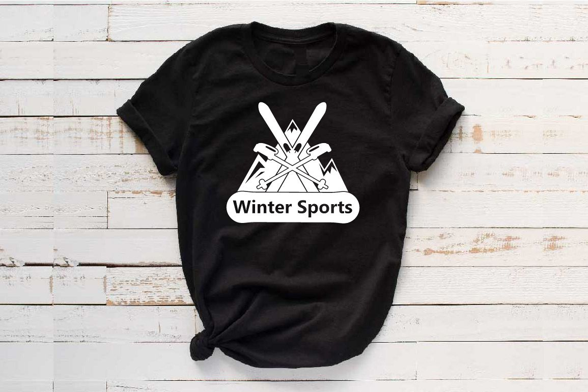 Winter Sports Logo Mountains Ski Side svg 1066s example image 1