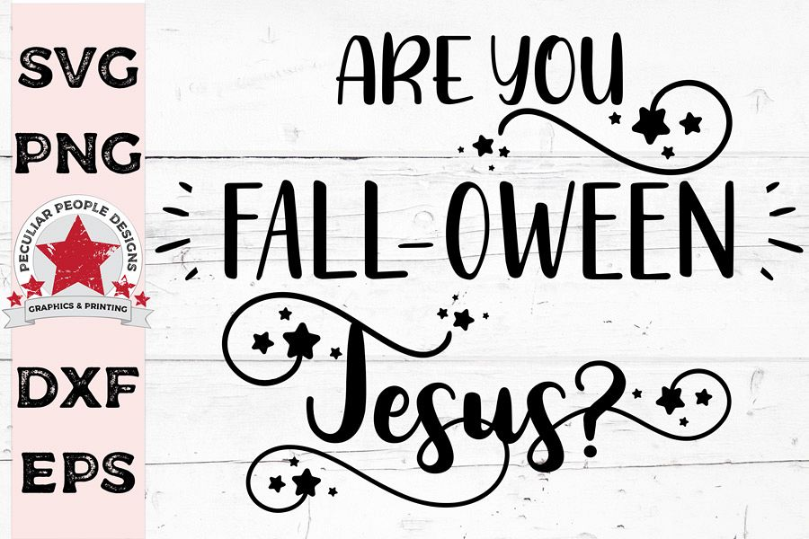 Are You FALLOWEEN Jesus, Halloween SVG cutting file example image 1