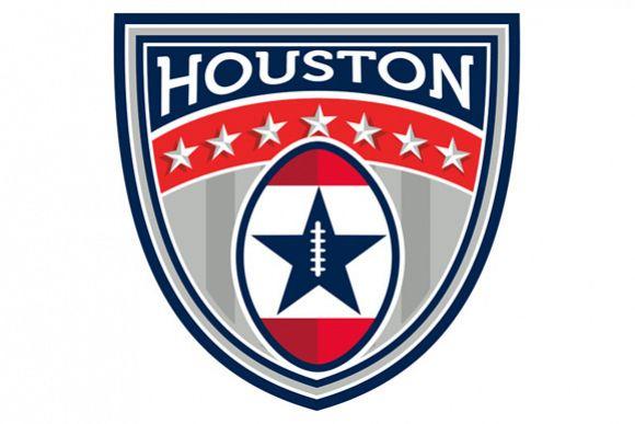 American Football Houston Stars Stripes Crest Retro example image 1