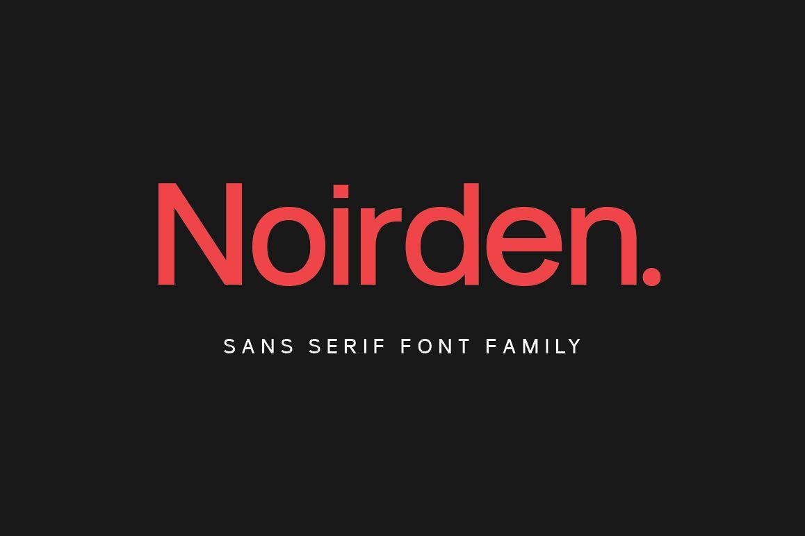 Noirden Sans Font example image 1