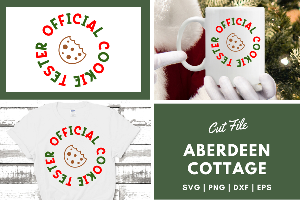 Official Cookie Tester - Holiday SVG | PNG | DXF | EPS example image 1
