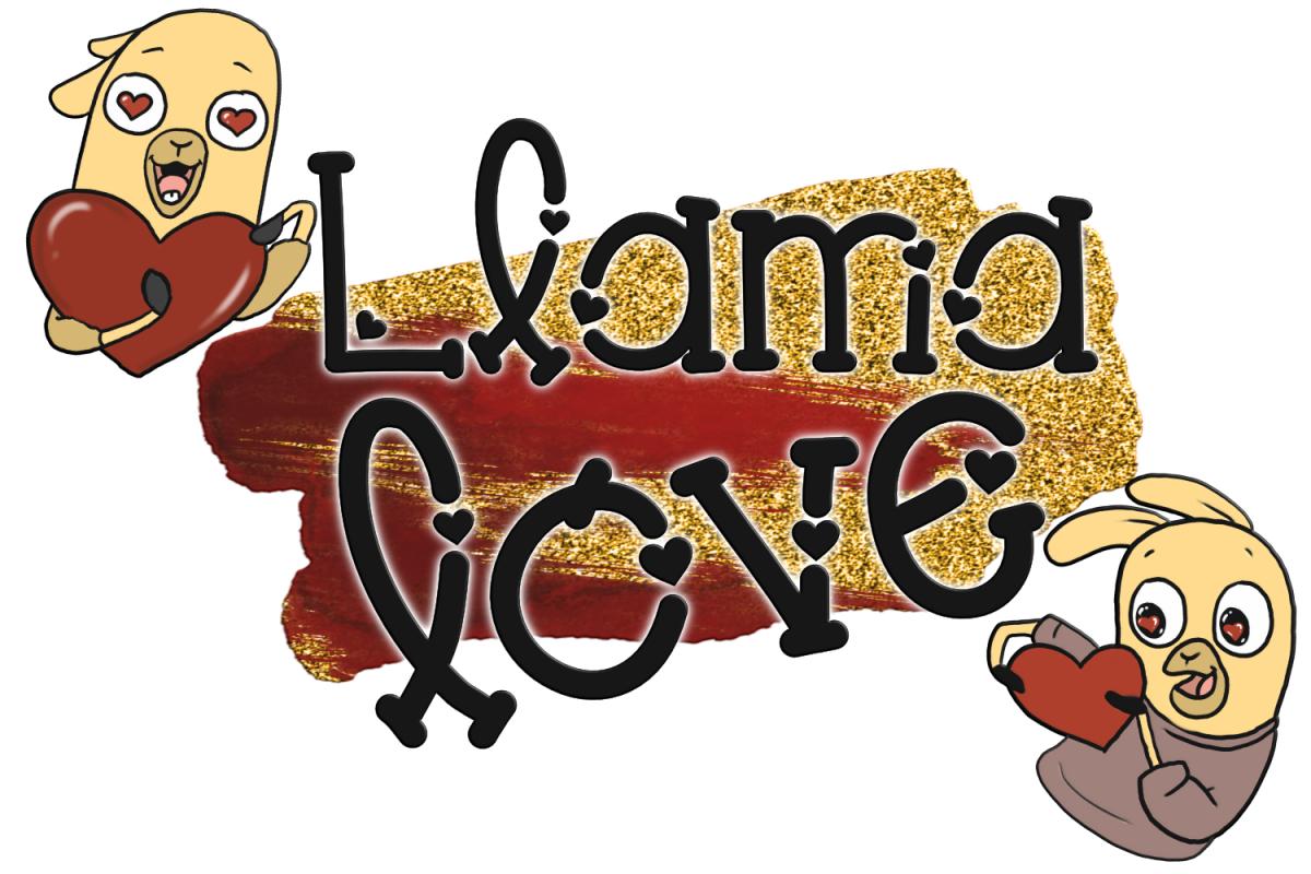 Llama Love Font example image 1