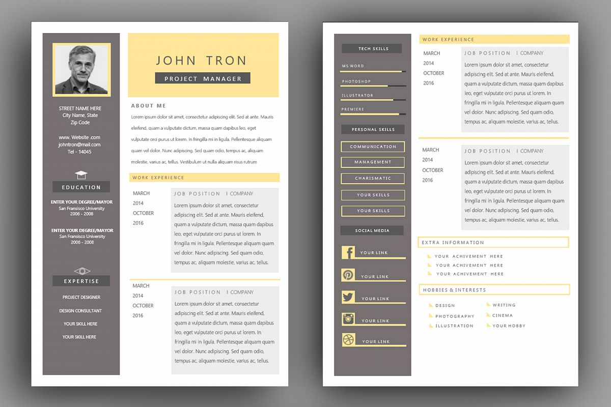 Express Resume Template With Ms Word