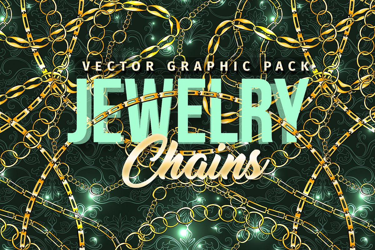 Chains Jewelry Graphics Pack example image 1
