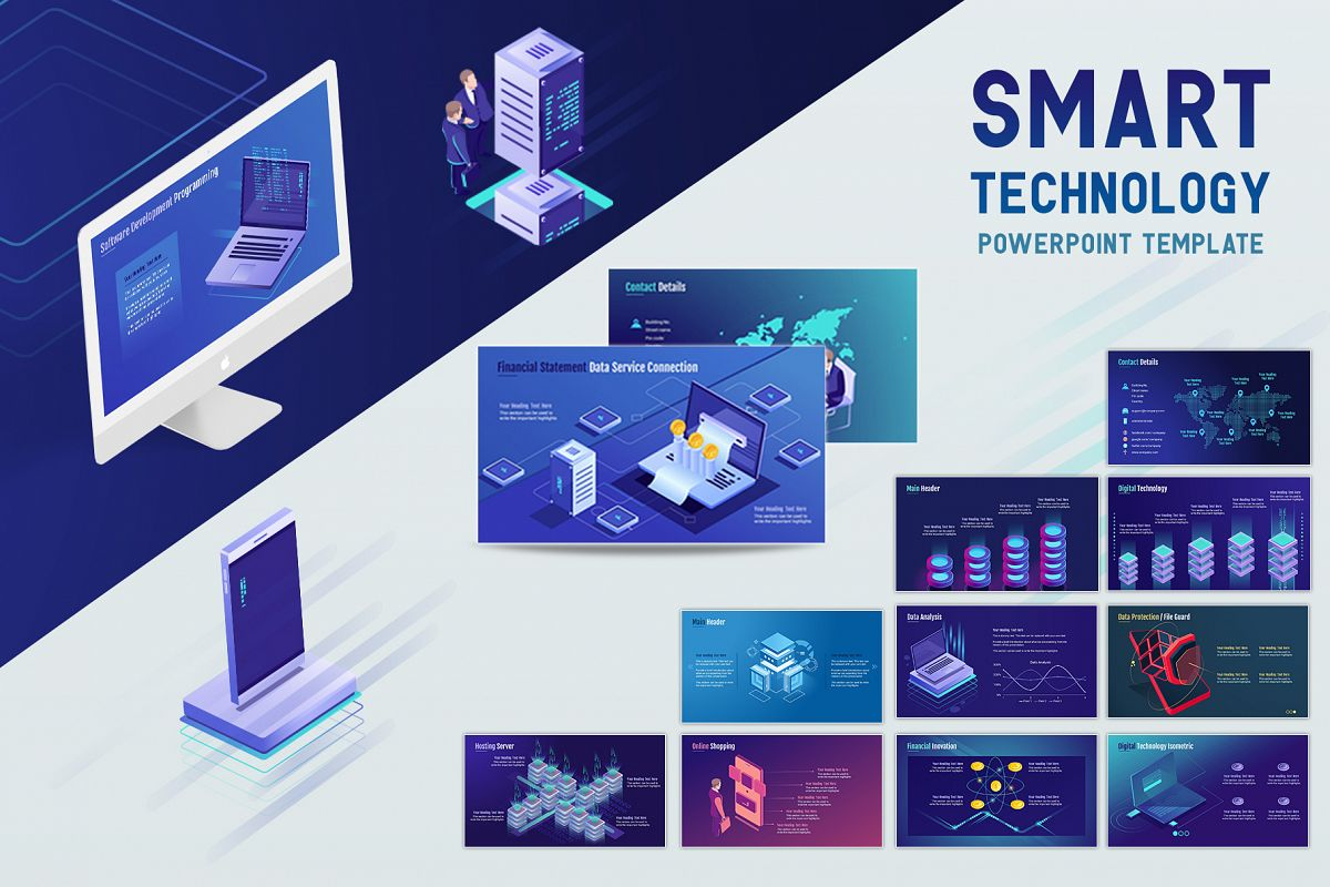 Smart Technology PowerPoint Template example image 1