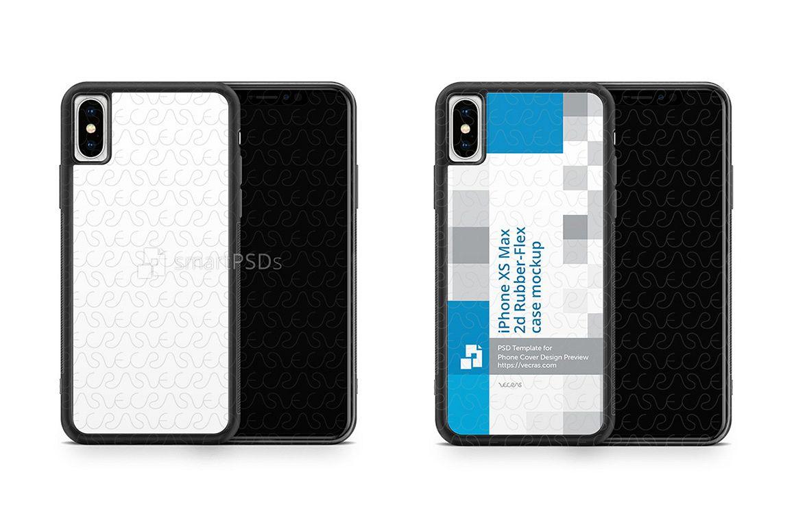 Apple iPhone XS Max 2d RubberFlex Mobile Case Design Mockup example image 1