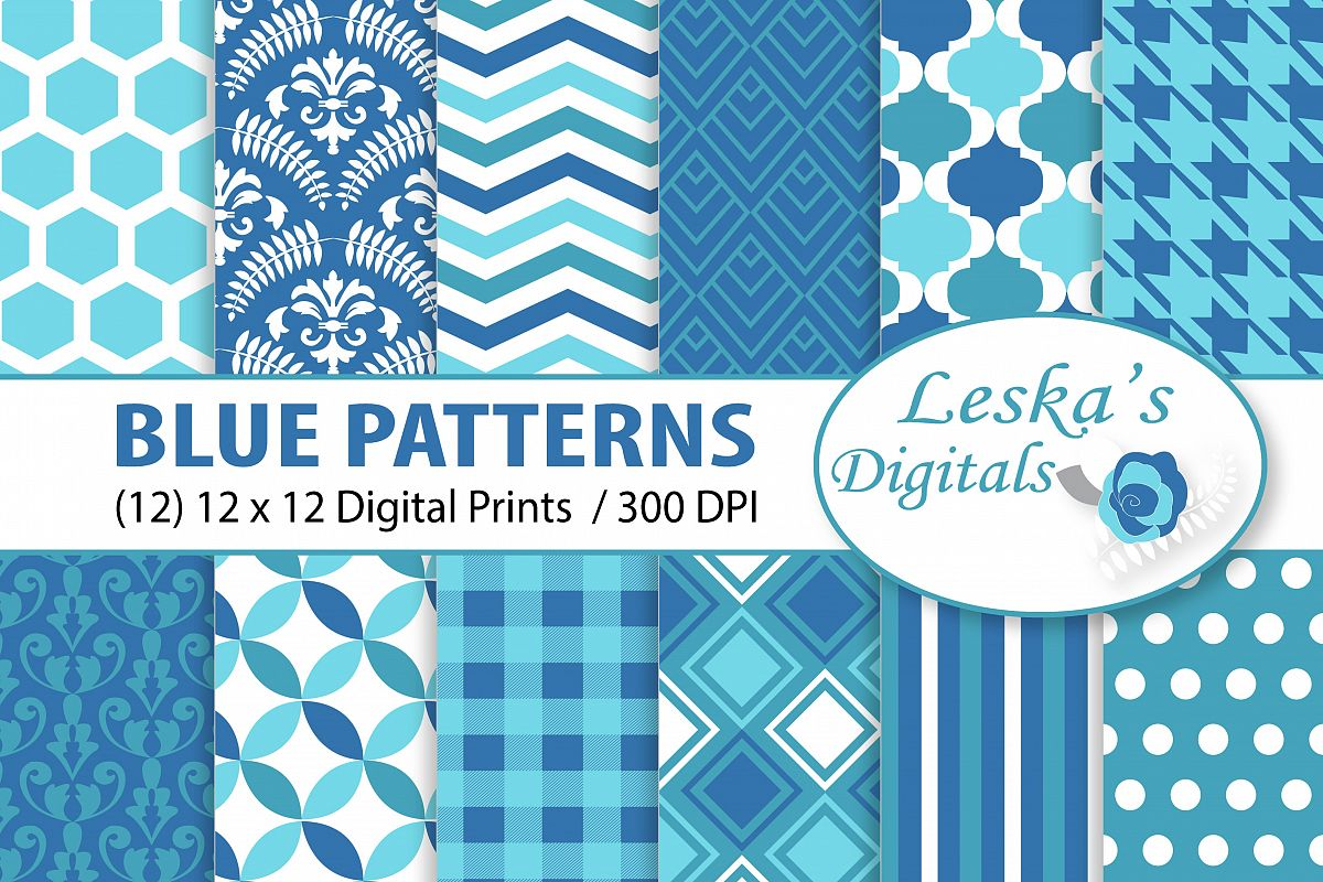 Blue Patterned Paper Pack example image 1