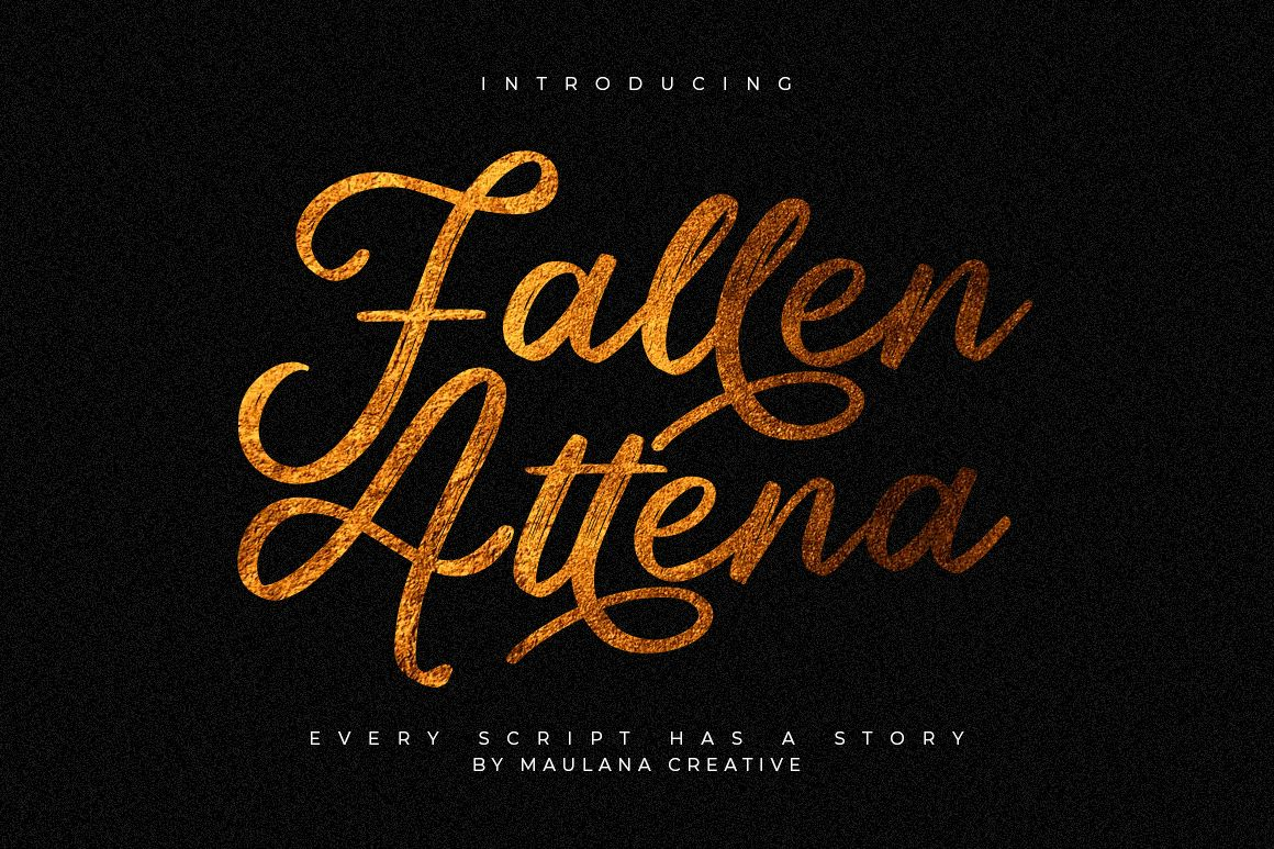 Fallen Attena - Brush Font example image 1