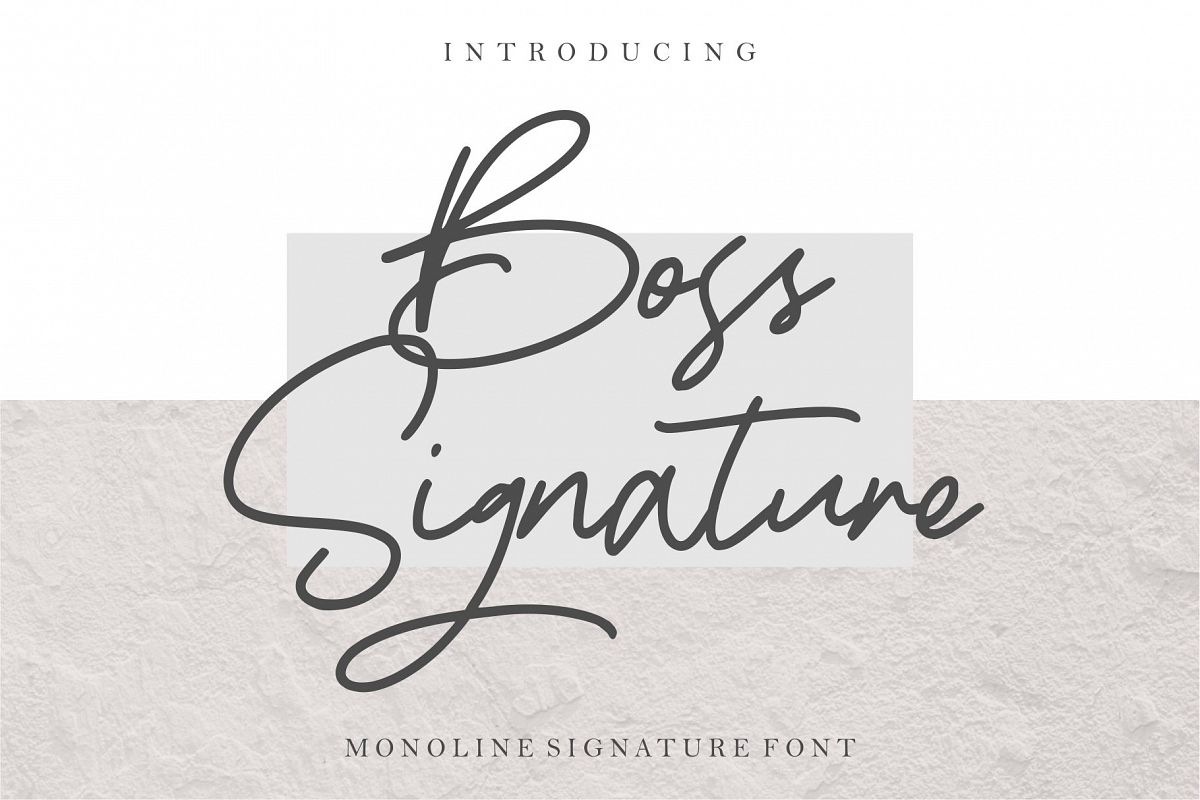 Boss Signature example image 1