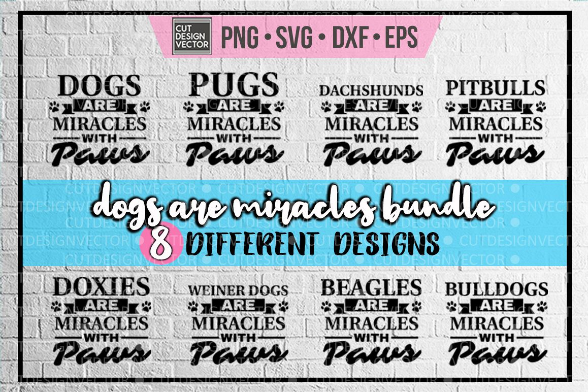 Dogs are Miracles with Paws BUNDLE example image 1