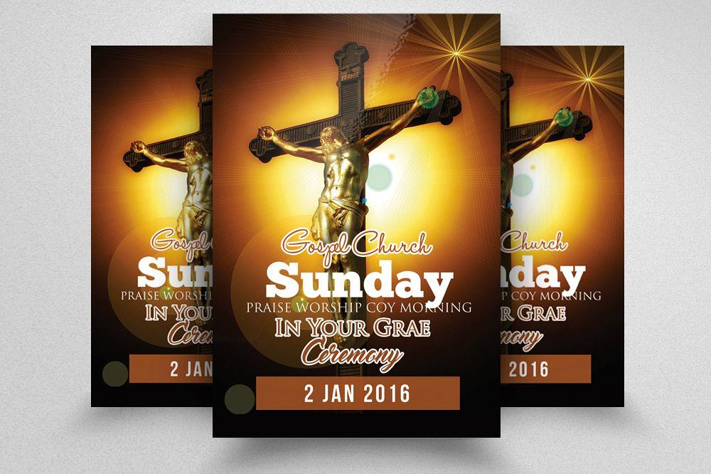 Cross Day Church Flyer Template