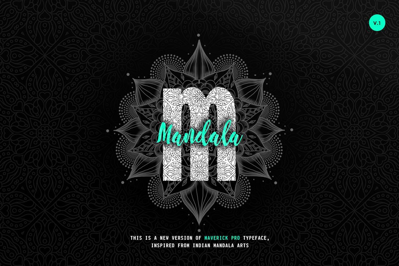 Maverick Mandala - Textured Typeface example image 1