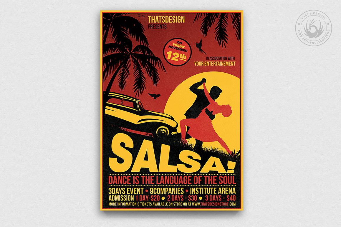 Salsa Flyer Template V3 example image 1