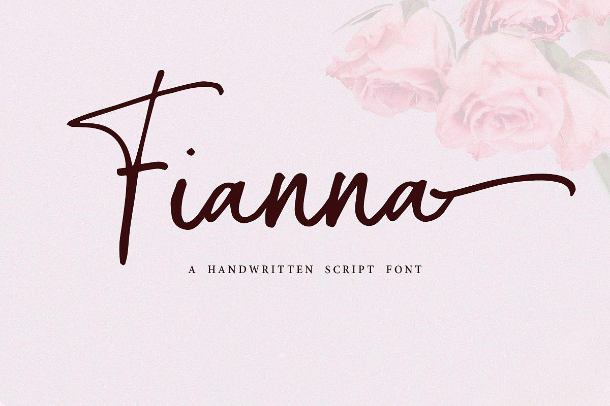 Fianna | Handwritten Script Font example image 1