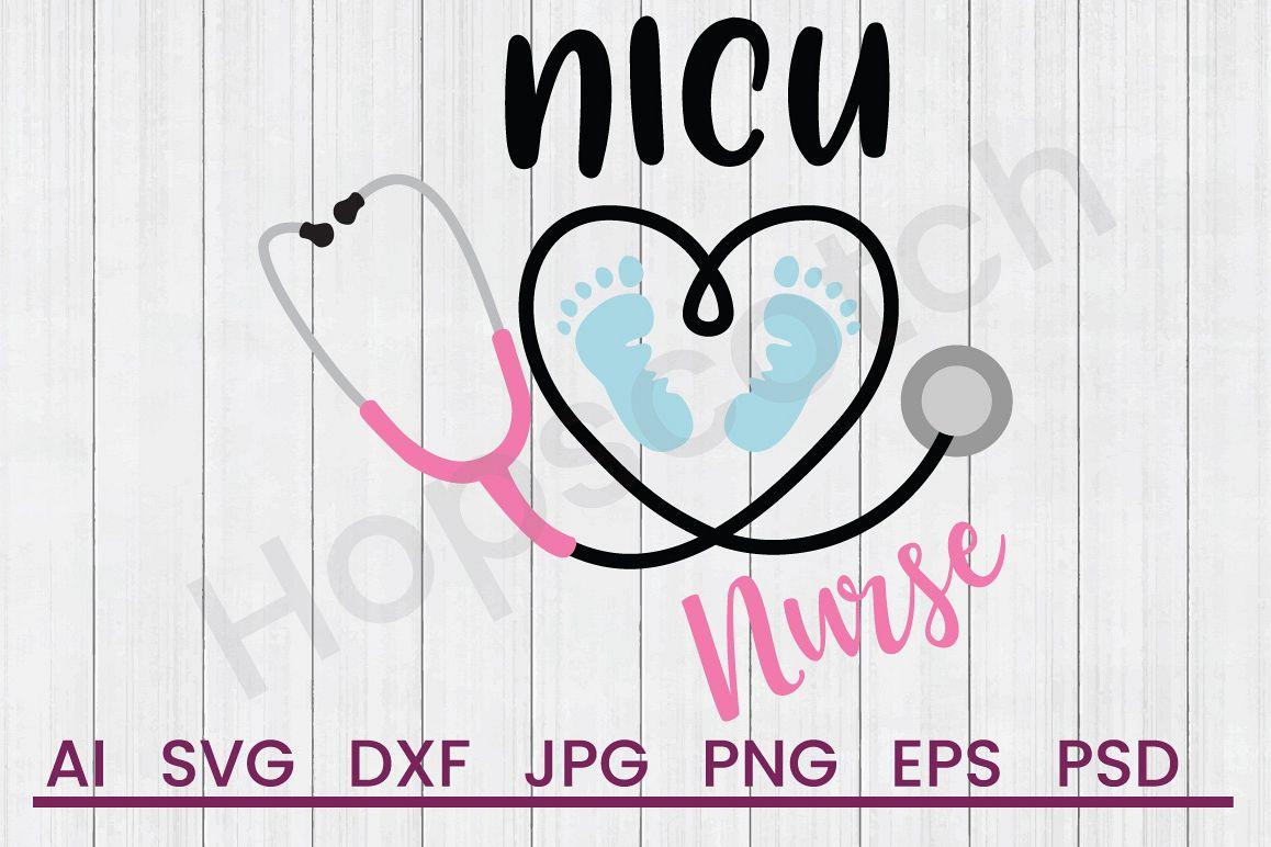 Stethoscope SVG, NICU Nurse SVG, DXF File, Cuttatable File example image 1
