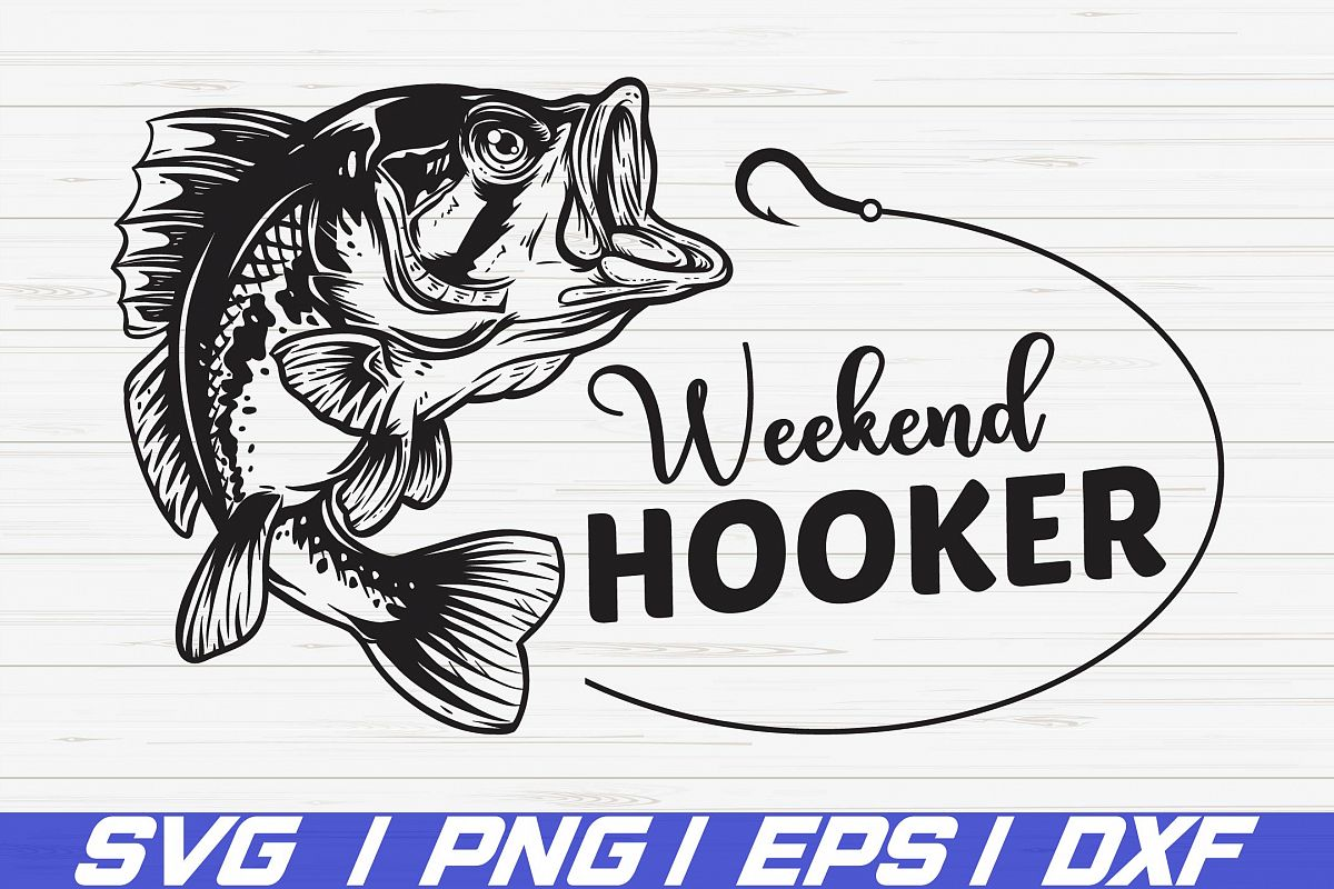 Weekend Hooker SVG / Cut Files / Cricut / Clipart / Vector example image 1