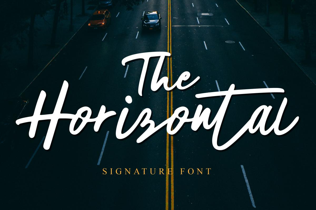 The Horizontal Signature Font example image 1