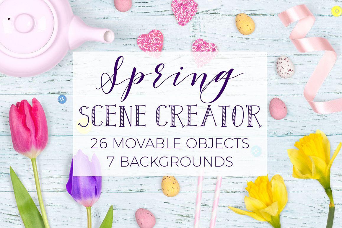 Spring Scene Creator - Top View example image 1