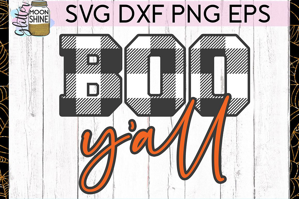 Boo Y'all SVG DXF PNG EPS Cutting Files example image 1