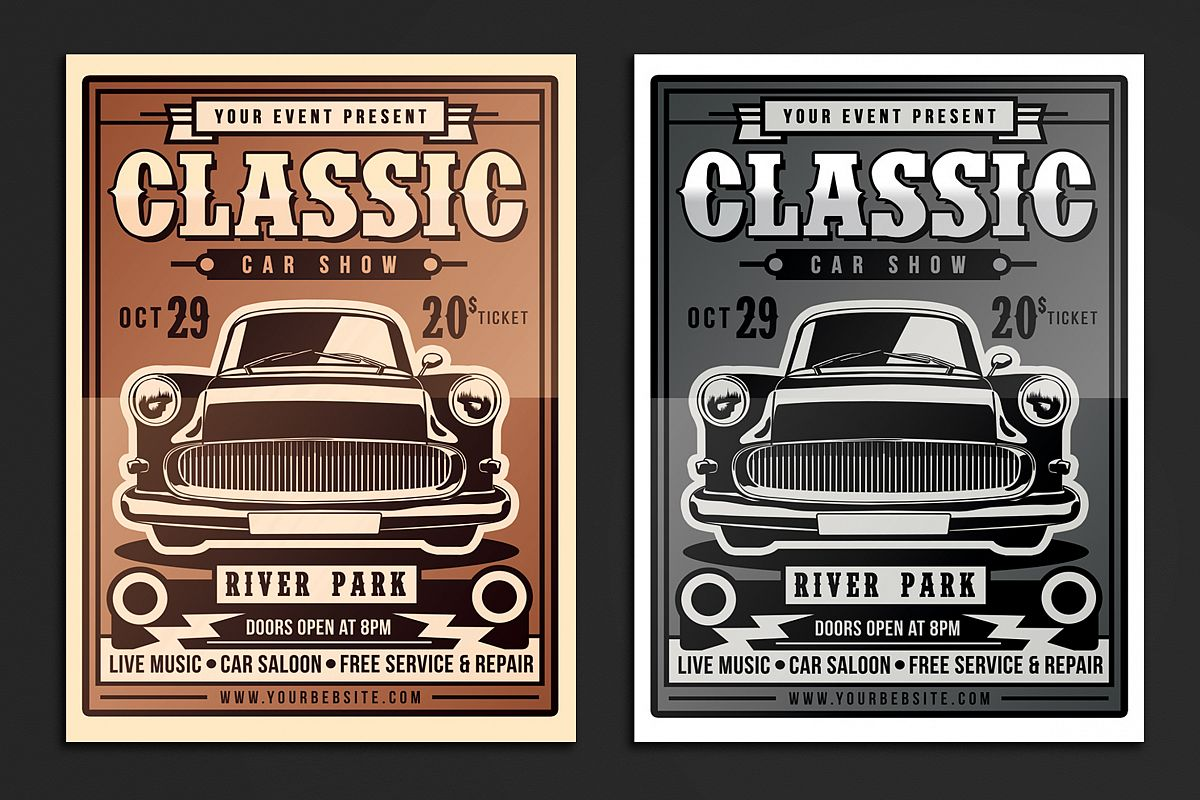 Classic Car Show Flyer - Car show flyer