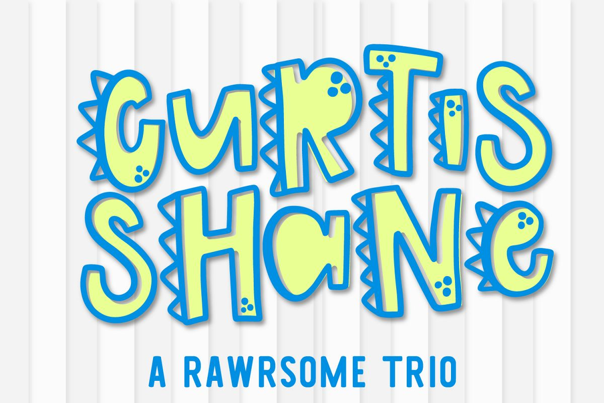 Curtis Shane - A Dinosaur Font example image 1