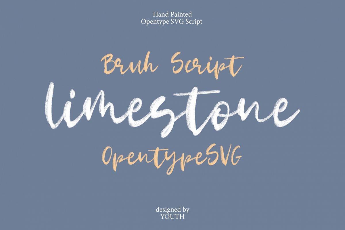Limestone OpentypeSVG example image 1