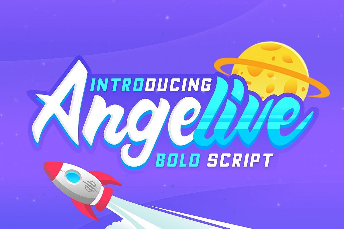 Angelive Bold Script example image 1