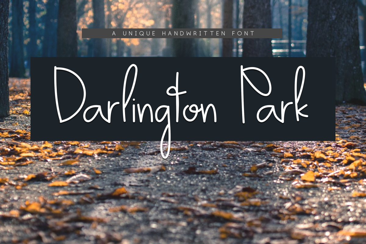 Darlington Park - Unique Handwritten Font example image 1