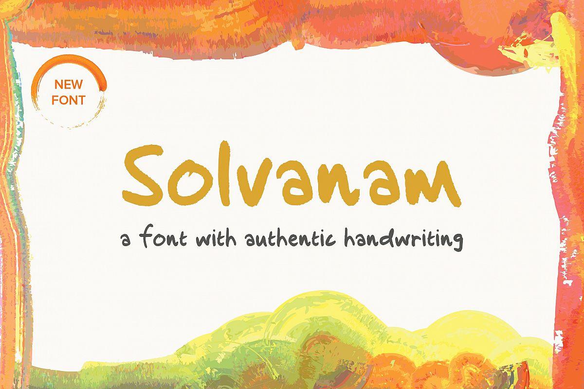 Solvanam  Font example image 1