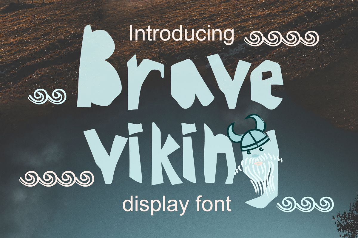 BRAVE-VIKING OTF font example image 1