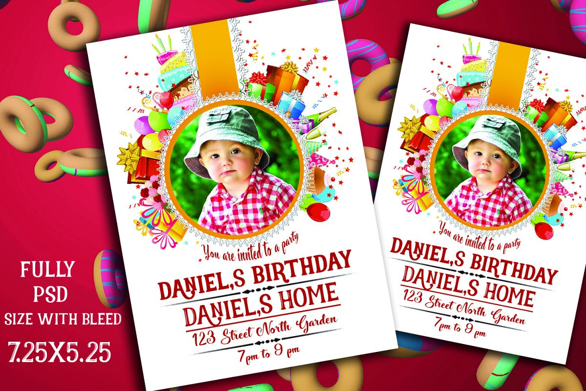 Birthday Invitation Card example image 1