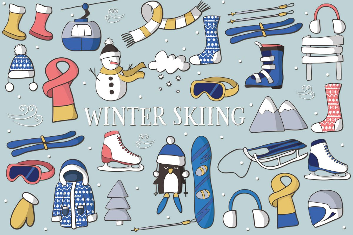 Winter Skiing example image 1