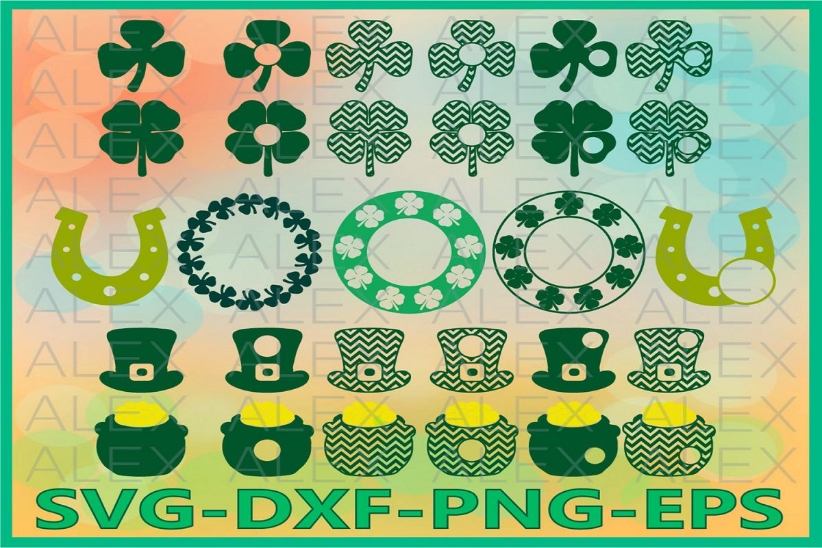 St Patrick's Day SVG, Clover SVG files for Cricut example image 1