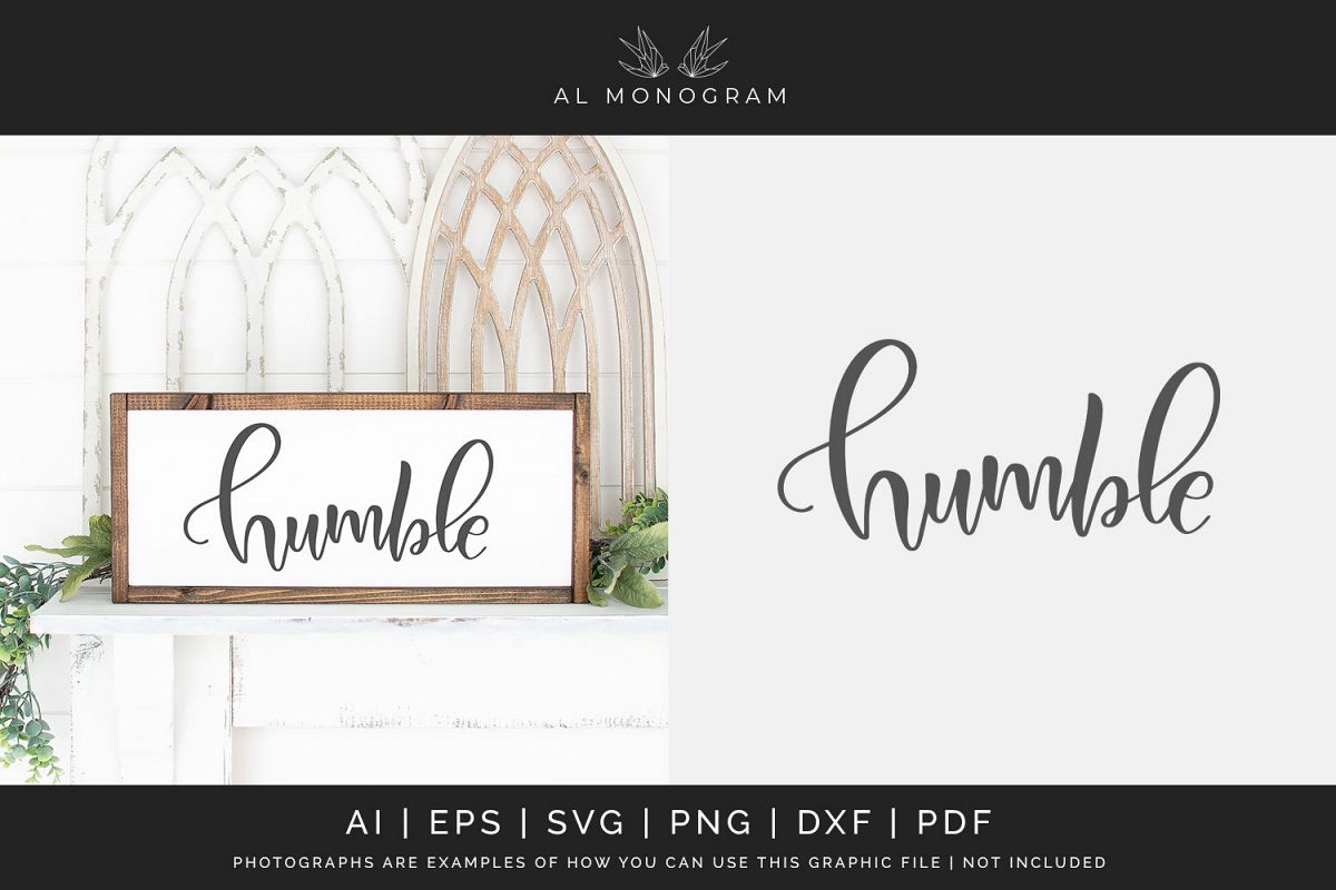 Humble SVG Digital Laser Cut File example image 1