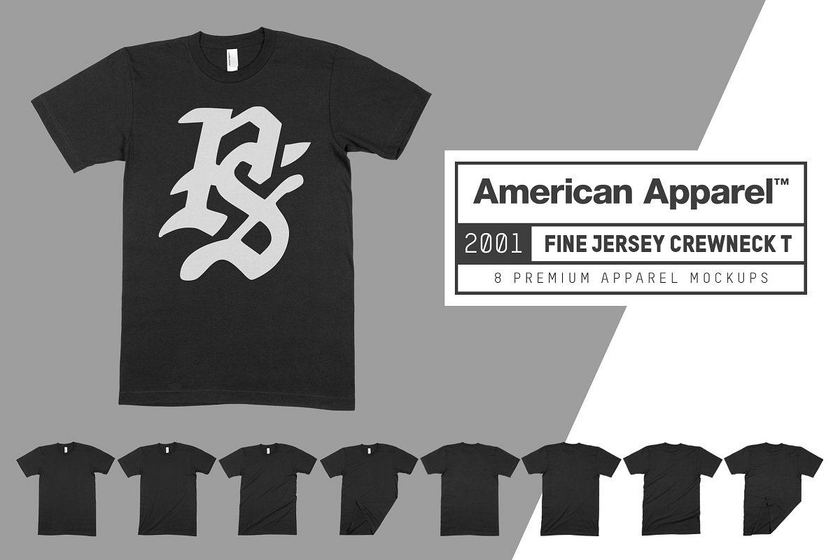 American Apparel 2001 Shirt Mockups example image 1
