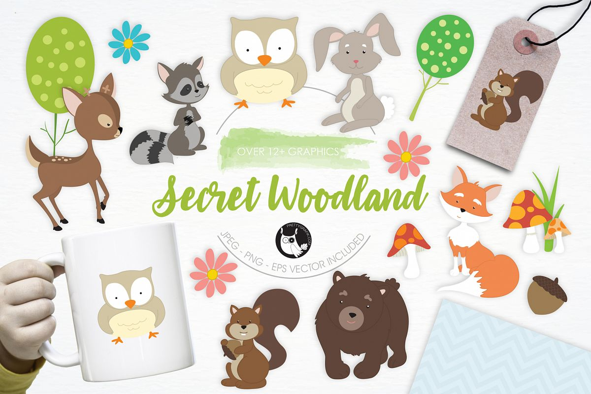 Secret Woodland graphics and illustrations example image 1