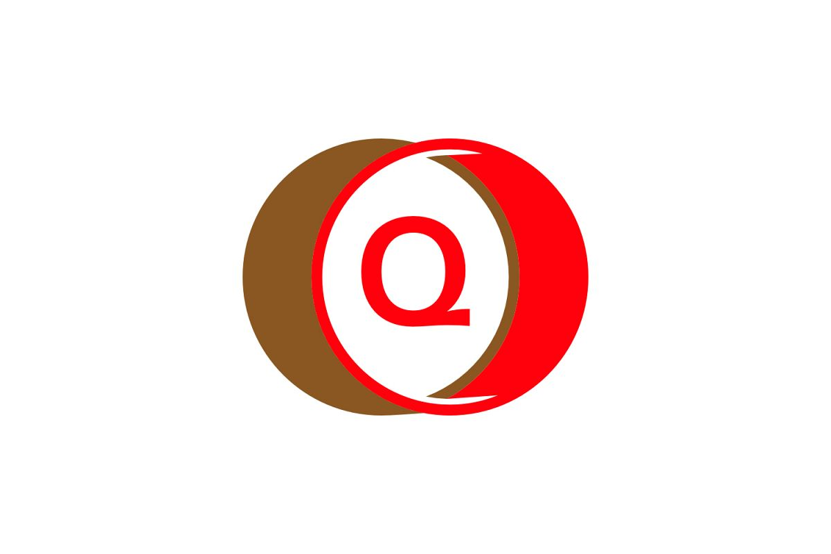 q letter circle logo example image 1